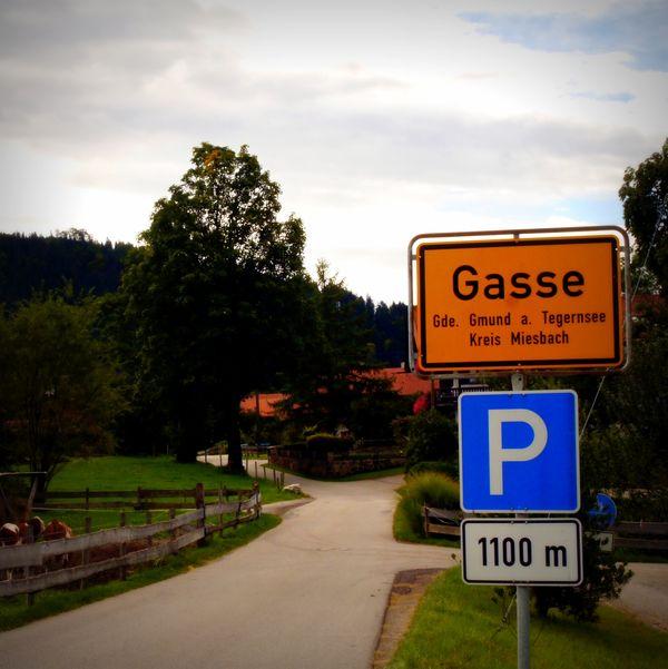 Gasse in Gmund am Tegernsee